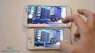 Samsung Galaxy S 3 vs iPhone 4S: скорость (speed comparison)