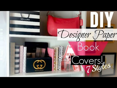 DIY: Designer Paper Book Covers! (Easy)