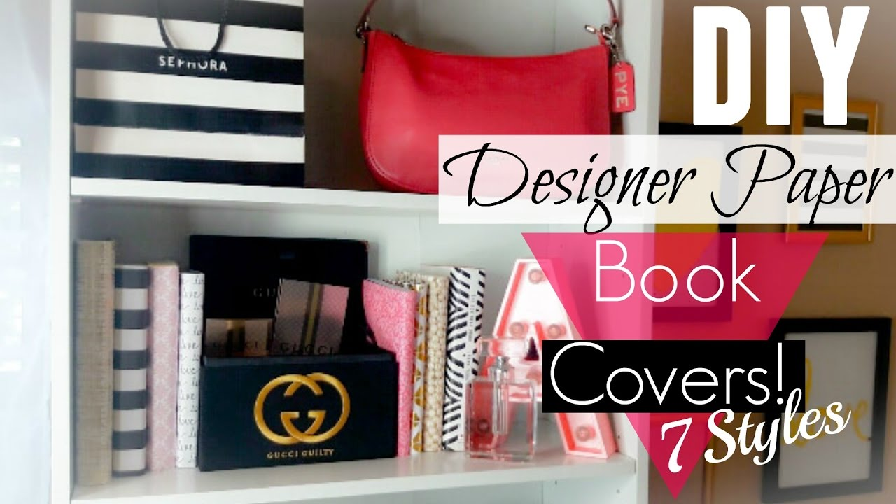 Book Cover Forros You Tube : Diy designer paper book covers easy youtube