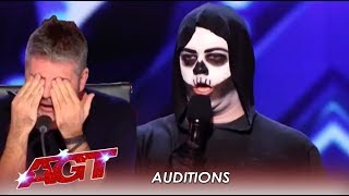 DEATH Tries To Charm The Judges But Will They Fall For It? | America's Got Talent 2019