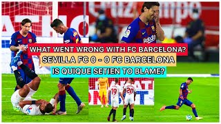 Sevilla and barcelona have tied - 0. there are has been huge back lash at the team coach for result. in this video i will be explaining why barca t...