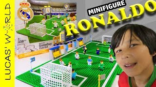REAL MADRID Oyo Sports Building Play Set UNBOXING RONALDO MESSI Figure Kids Toys Review