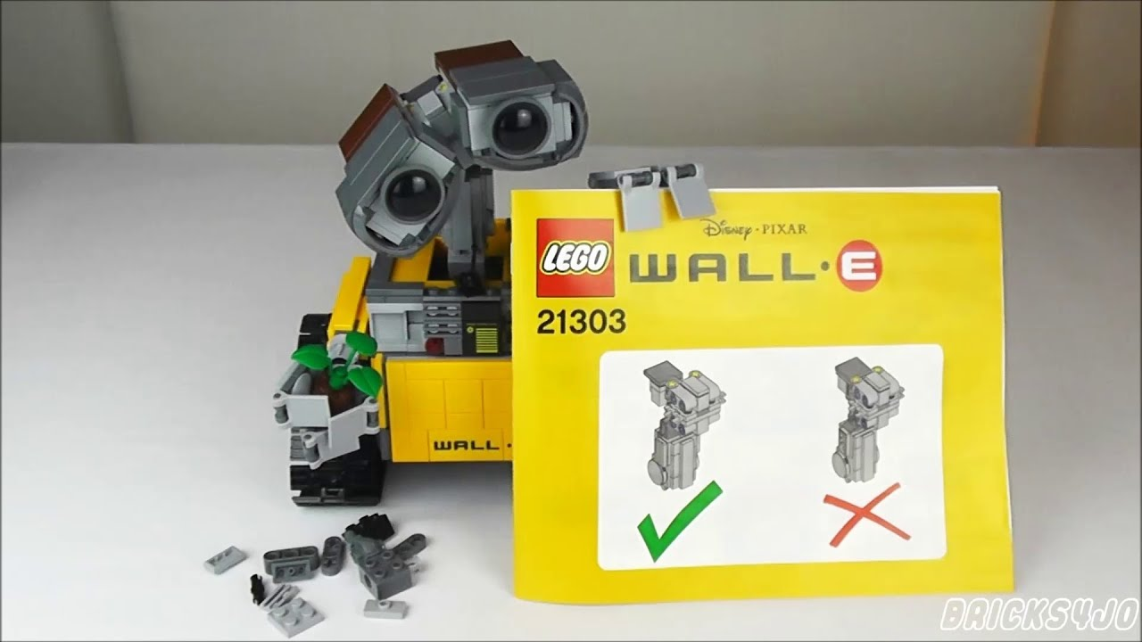 lego 21303 head & neck fix (reparatur-kit) für wall•e - youtube