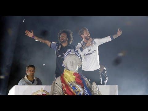 Real Madrid Celebración en Cibeles - Liga 2017 HD