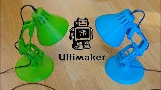 Ultimaker 2 Making Of Pixar Lamp With LED And Switchbox
