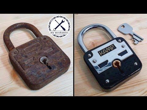 Broken Rusty Lock With Missing Key - Restoration