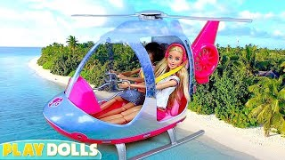 Barbie Girl Saves Chelsea and Skipper with NEW Helicopter Toy!