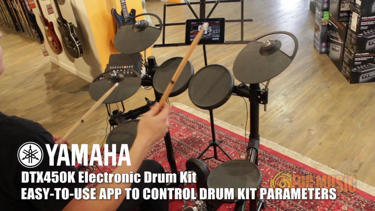 yamaha dtx450k electronic drum kit demo youtube. Black Bedroom Furniture Sets. Home Design Ideas
