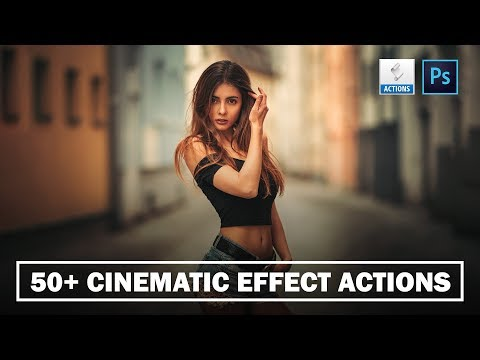50+ CINEMATIC COLOR GRADING PHOTOSHOP ACTION FREE !
