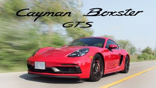 2018 Porsche 718 Cayman GTS vs Boxster GTS Review