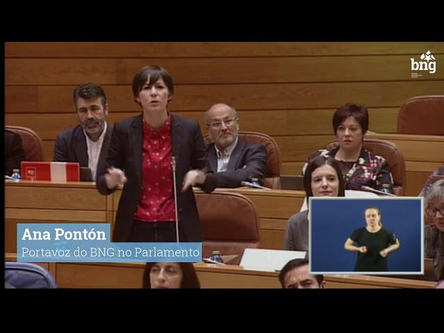 """Ana Pontón: """"A súa irrelevancia e submisión políticas, Sr. Feijóo, arrastra a toda Galiza"""""""