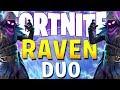 INSANE BACK TO BACK DUO WINS! (Fortnite Battle Royale Raven Skin)