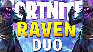 INSANE BACK TO BACK DUO WINS! (Fortnite Battle Royale Raven Skin)