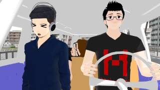 [MMD] Youtubers on a Bumpy Ride [Markiplier Jacksepticeye CinnamonToastKen]