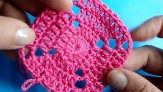 Вязание крючком - Урок 201 - как вязать квадрат 8