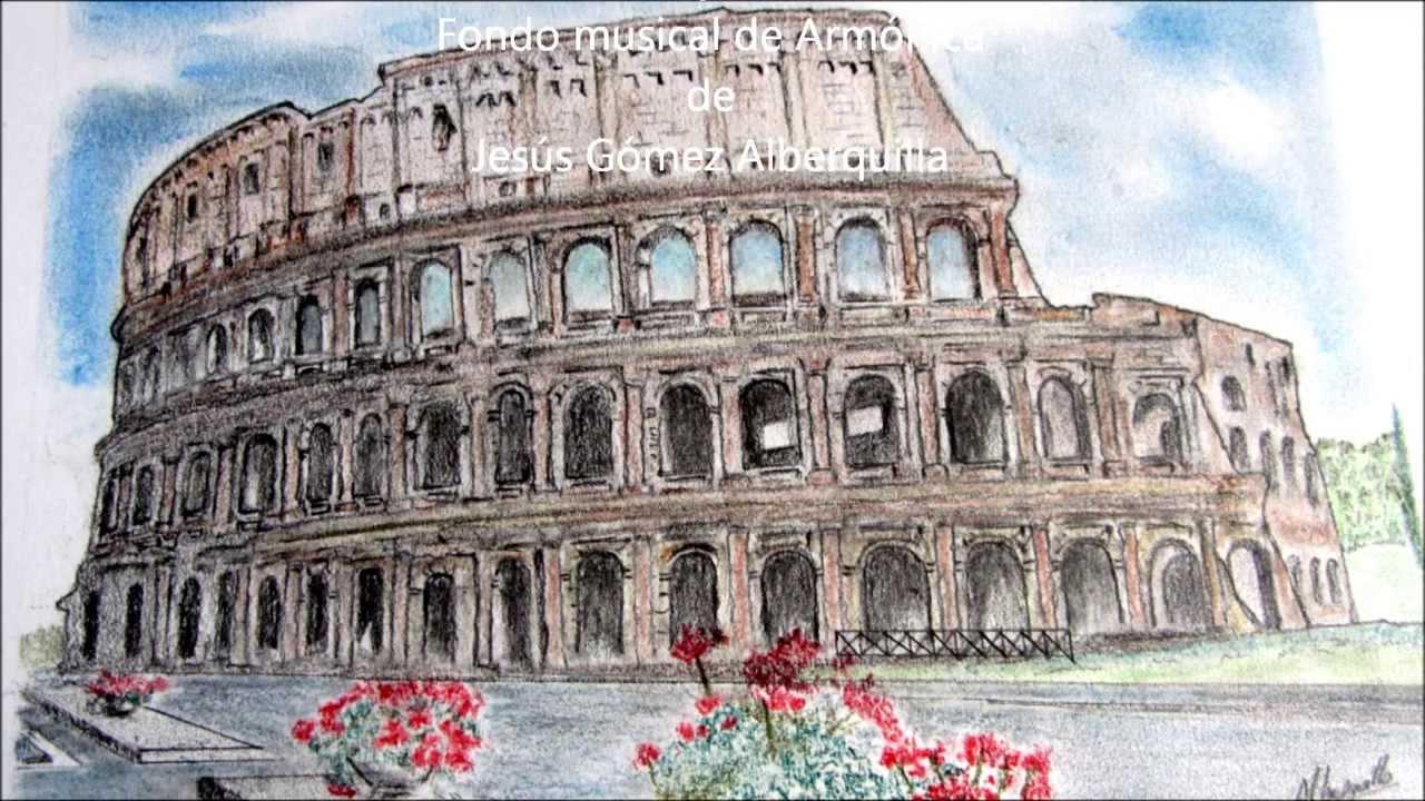 Mis Dibujos Coliseo Romano Youtube