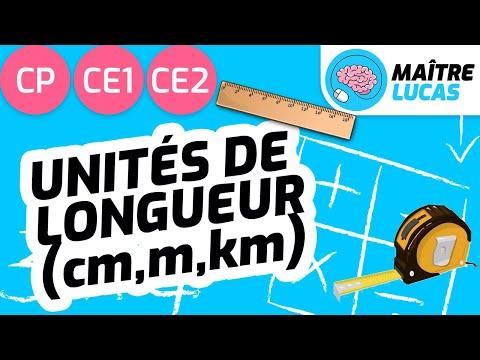 Unités de longueur (cm, m, km) - Grandeurs et mesures - Maths CP - CE1 - CE2 - Cycle 2