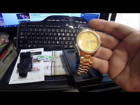 Review Of OLEVS Luxury  Watch For Men With Calendar Quartz Watch Model # 7539619618
