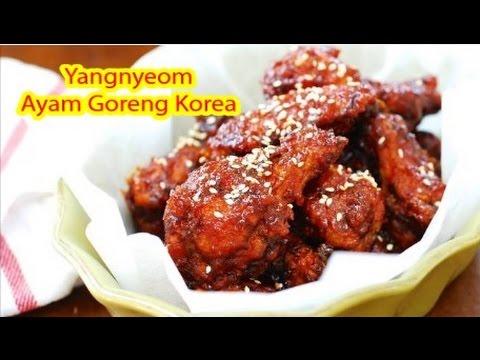 Resepi Ayam Goreng Pedas Korea Yangnyeom Mudah Sedap Step By Step Youtube