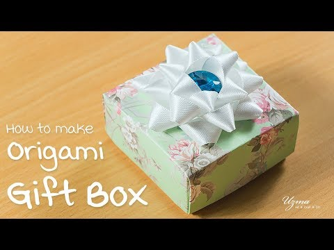DIY Gift Box with Lid | Origami Craft project | Paper Craft