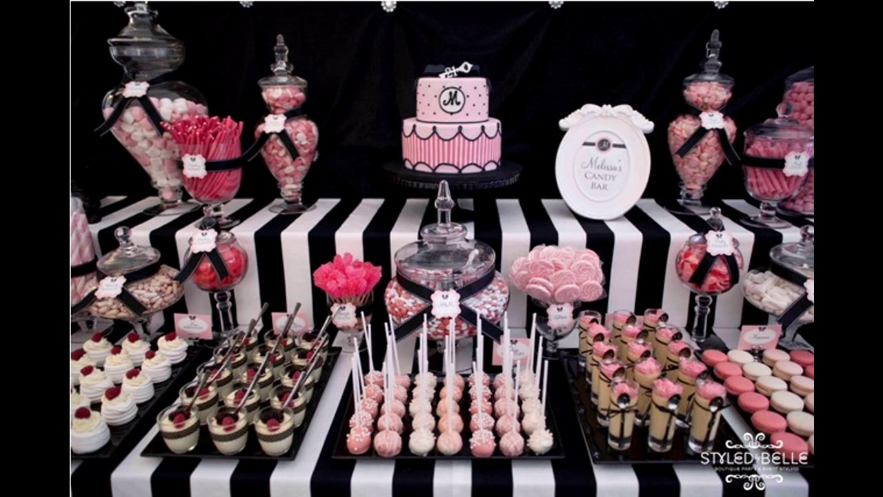 Pink Black Party Decorating Ideas