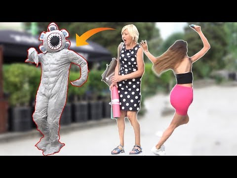 devil cosplay halloween prank -  demon prank
