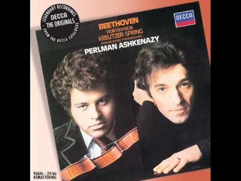 Beethoven violin sonata No. 5 Spring Mvt 1 (1/3) Perlman
