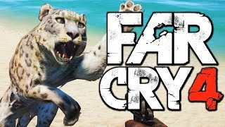 Far Cry 4 Funny Moments (Hunting the Rare Shadow Leopard, Harpoon Gun) Thumbnail