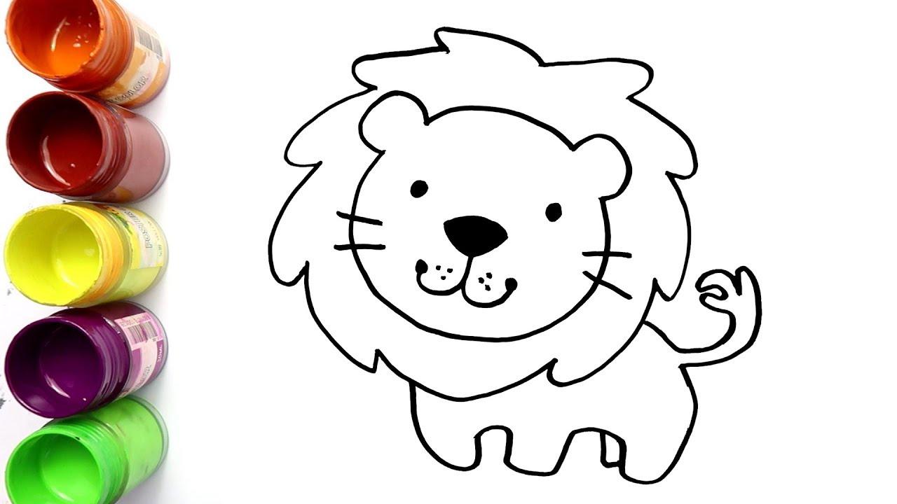 Cara Menggambar Dan Mewarnai Singa Bagus