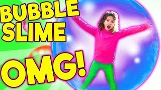 WORLD'S BIGGEST GIANT SLIME BUBBLES! LEARN HOW TO MAKE SUPER STRETCHY BUBBLE SLIME MP3