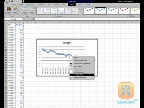 How To Create A Spreadsheet Weight Loss Tracking Graph - Slow Carb