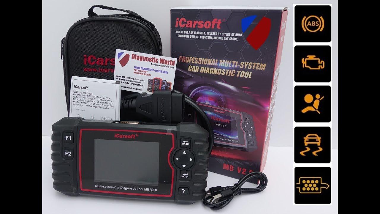 icarsoft mb v2 0 mercedes smart sprinter diagnostic package final youtube. Black Bedroom Furniture Sets. Home Design Ideas