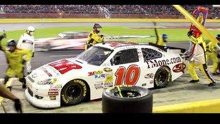 NASCAR PITSTOP FASTEST 8 SECOND PIT STOP EVER!! CHARLOTTE RACETRACK PIT POV
