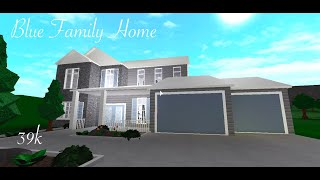 Blue Family House // 39k // Roblox Bloxburg Speed Build //