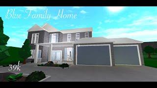 // Blue Family House // 39k // Roblox Bloxburg Speed Build //