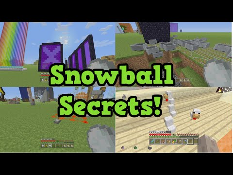 Minecraft Snowball Secrets (& Eggs)