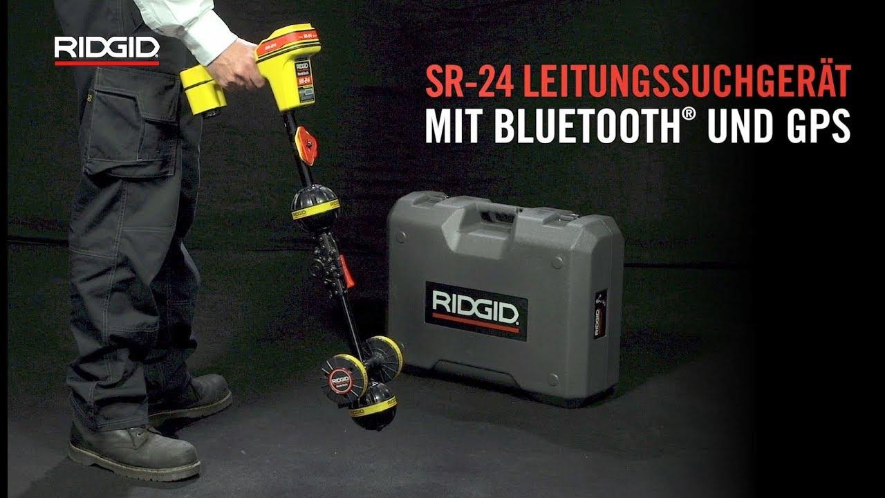 ridgid sr-24 leitungssuchgerät mit bluetooth® und gps - youtube