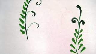 How to create a Wax Design Fern Leaf ~ Featuring Miriam Joy
