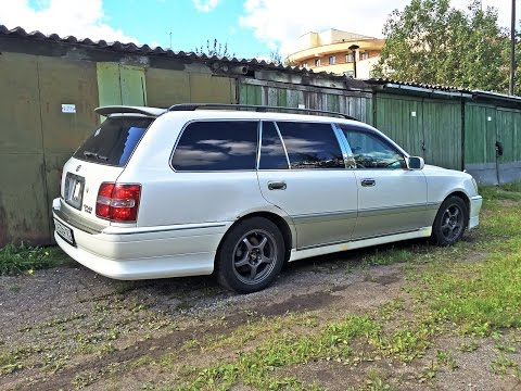 Toyota Crown Estate / Changing rear bumper and side skirts