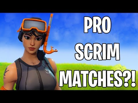 PRO PLAYER SCRIM GAMES in FORTNITE! (my first time ever...)