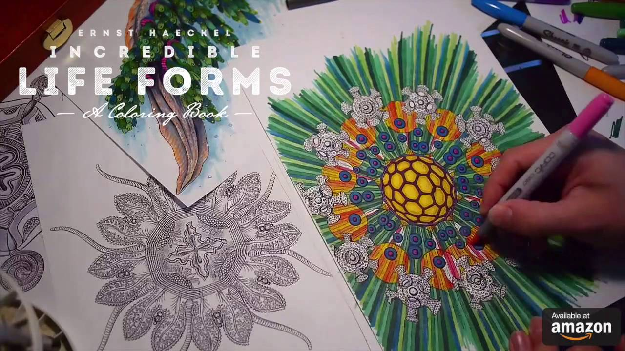 Incredible Life Forms A Coloring Book