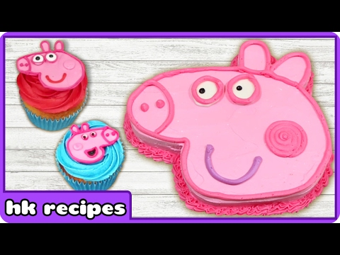 peppa-pig-birthday-cake-and-cupcake-decorating-tips-|-easy-peppa-pig-ice-cream-by-hoopla-recipes