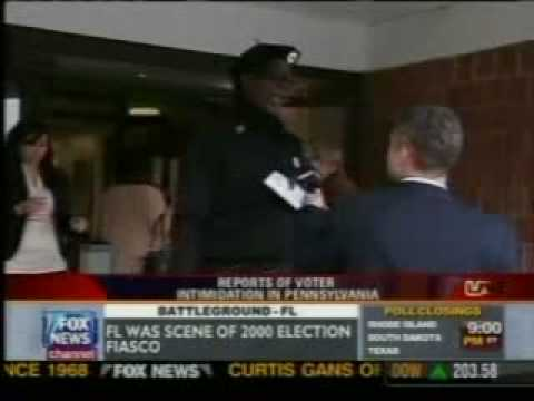 Black panthers intimidating voters video