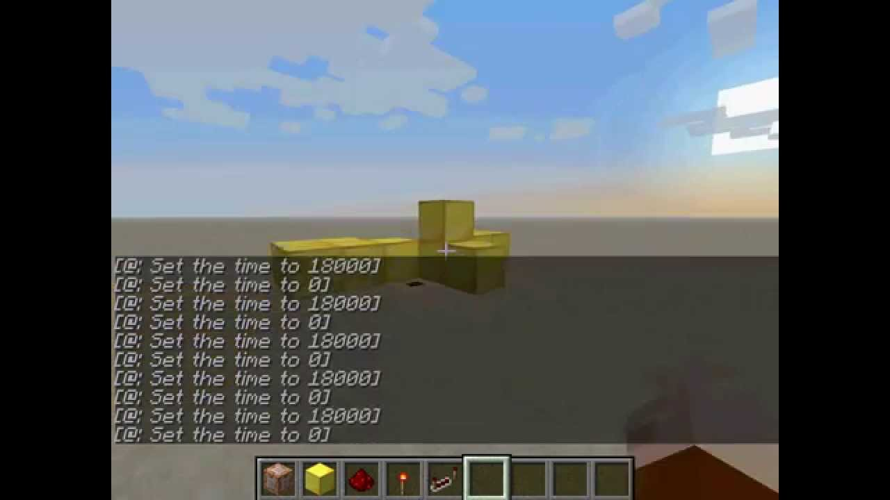 how to make a time machine in minecraft