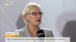Dagmar Ziegler und Dietmar Bartsch zur Deutschen Einheit am 02.10.2015