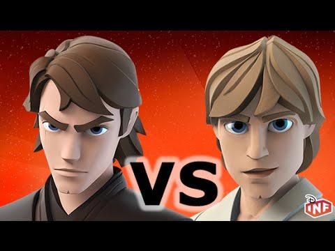 Anakin Skywalker vs Luke Skywalker sarlacc pit arena fight Disney Infinity  toy box