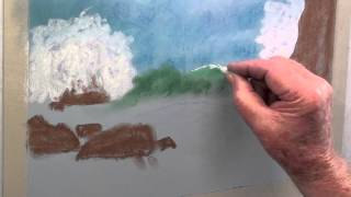 how to draw wild waves in pastel