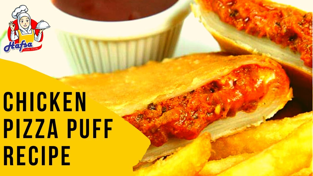 Chicken & Vegitable Pizza Puff Recipe without Oven | Hafsa Can Cook