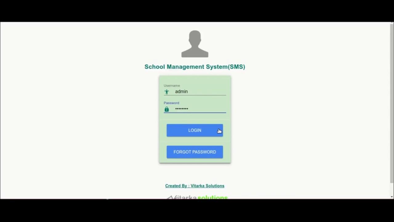 School Management System Demo Youtube