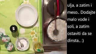 Hähnchenfleisch mit Schmand Rezept/Pilece meso sa pavlakom recept